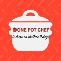 The One Pot Chef YouTube Channel turns 9 today! Thanks for all your support over the years - and thanks for sharing my recipes! http://www.youtube.com/onepotchefshow