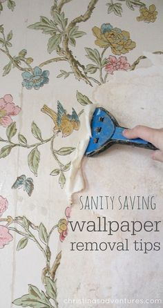 Great sanity saving tips for removing wallpaper from plaster walls (without chemicals!)