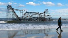Jersey Shore Rollercoaster after Sandy