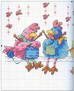 Hen knitting
