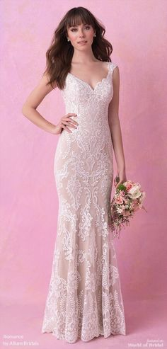Romance by Allure Bridals Fall 2018 Wedding Dresses. Romance by Allure  Bridals Fall 2018 sheath gown 46acebff973a