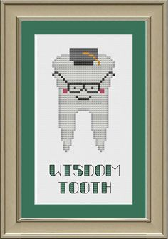 This smart little tooth would be a cute gift for a new dental school graduate!    This listing is for the pattern only --- not a completed