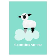 VINTAGE FISHER PRICE FARM poster. Counting Sheep. VINTAGE FISHER PRICE PRINTABLES. More Colourful and Retro Printables for Kids Room or Nursery Wall Art please visit LetuvePosters