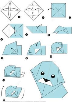 How to Make an Origami Dog Step by Step Instructions | Super Coloring