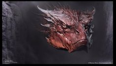 Concept art for Smaug and Beorn by Andrew Baker - Imgur