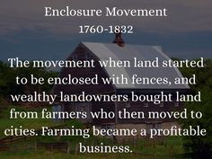 Enclosure Movement History Of England, European History, World History, Agricultural Revolution, Ap Euro, Ap Human Geography, School Levels, How To Buy Land, Teaching History