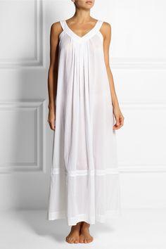 Donna Karan Sleepwear|Cotton-batiste nightdress