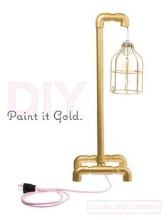 When in doubt paint it gold. That's what we say here at Color Cord Company. We went on an adventure to the local hardware store, and found ourselves in the PVC
