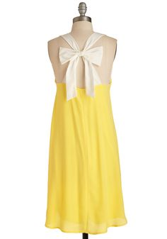 That's Bright! Dress. Warmer days are here to stay, and you welcome the radiant weather in this vibrant yellow dress! #yellow #modcloth