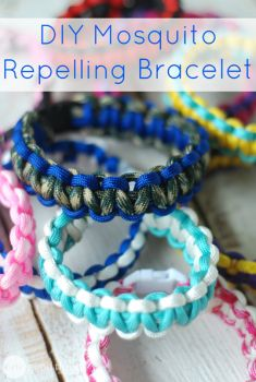 DIY Mosquito Repelling Bracelet - Great tutorial on how to make a paracord survival bracelet and a great mixture for mosquito repellent using essential oils.