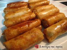 Τραγανά και νόστιμα spring rolls.