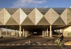 Haptic covers car park in geometric metal skin in the Queen Elizabeth Olympic Park, London