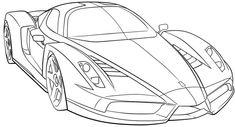 Malvorlage Sportwagen