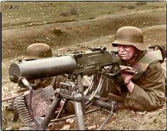 Royal Hungarian Honvéd machine gun team operating a Schwartzlose MG on the Eastern Front Colorized by Doug Banks. Ww1 History, History Photos, Military History, World War One, First World, Germany Ww2, Man Of War, War Dogs, German Army
