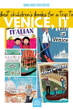 Best Children's Books for a Trip to Venice, Italy Best Children Books, Kids Story Books, Teaching Kids, Kids Learning, Italy For Kids, Visit Venice, Venice Travel, World Of Books, Free Activities