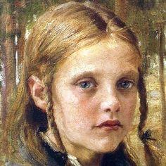 bY Albert Edelfelt. New Art, Art For Kids, Old Master, Art Photography, Illustration, Artwork, Faces, Scandinavian Paintings, Girls