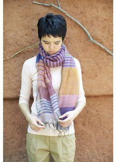 手織りマルチストライプ・スカーフ Fair Trade, Plaid Scarf, Collars, Scarves, Lady, Clothes, Style, Fashion, Scarfs