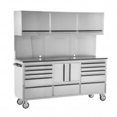 48' Stainless Steel Workbench | tool boxes | Pinterest