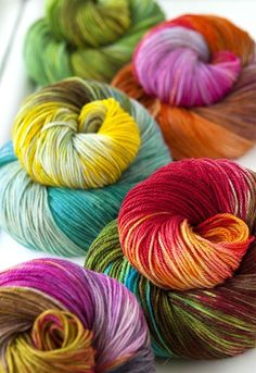 😍 I could stare at this yarn all day! Found here!