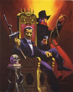 Jim Steranko The Shadow Fear of the Throne cover art