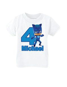 PJ Mask CatBoy Birthday Shirt, PJ Mask Birthday Shirt, PJ Mask Personalized Birthday Shirt by LittlePersonalTouch on Etsy https://www.etsy.com/listing/264307370/pj-mask-catboy-birthday-shirt-pj-mask