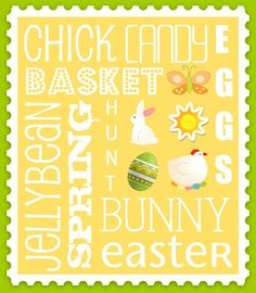 Easter Subway Art -  Free Printable