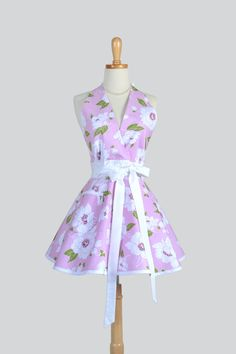 Etsy listing at https://www.etsy.com/listing/195786703/sexy-womens-halter-apron-dolce-floral-in