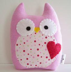 Sweet Owl Plush by gush4plush on Etsy, $18.00