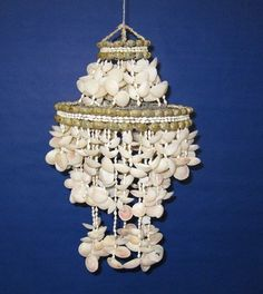 Real Shell windchime. Could add wiring for a light fixture
