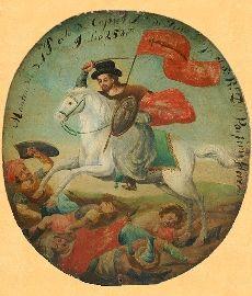 Santiago Matamoros (con sombrero hispanoamericano). Spanish Colonial Art