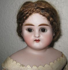 Antique Turned Shoulderhead Doll - Marked 342
