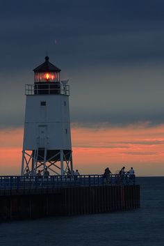South Pierhead Lighthouse, Charlevoix, MI
