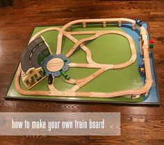 A reason to learn the power tools- Make your own Train Table/Board.