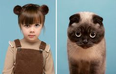 ¿Te pareces a tu gato? Disfruta de este proyecto donde el fotógrafo Gerrard Gethings une a personas con sus dobles gatunos David Schwimmer, Dancing Cat, Scottish Fold, Funny Bunnies, Bored Panda, Maine Coon, I Love Cats, Pet Portraits, Animal Photography