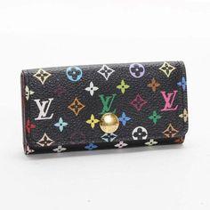 Louis Vuitton Multicles 4 Monogram Multicolor Other Black Canvas M60284
