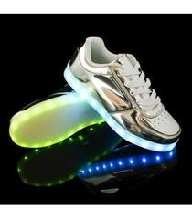 Hoverboards are a thing of future and we partner them with the futuristic design of these silver Women's LED shoes. You can shop for them now at just $59.