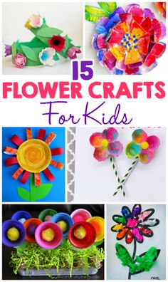 8 spring flower activities for kids crafts for kids pinterest 15 flower crafts for kids mightylinksfo