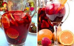 Španělská Sangria | NejRecept.cz Sangria, Alcoholic Drinks, Beverages, Lemonade Cocktail, Mojito, Fruit Salad, Smoothie, Goodies, Food And Drink