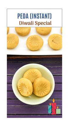 Indian Dessert Recipes, Indian Sweets, Indian Snacks, Indian Recipes, Peda Recipe, Vegetarian Sweets, Cookie Recipes, Snack Recipes, Diwali Food