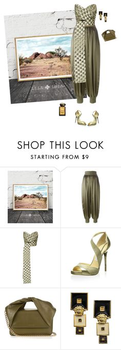 """""""Harem"""" by andreearaiciu ❤ liked on Polyvore featuring Fendi, Acler, Jimmy Choo, J.W. Anderson, Versace and Giorgio Armani"""
