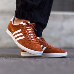 Adidas Gazelle Trainers Trace Brown/Off White,originals,shoes,mens