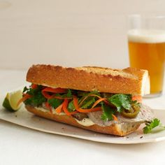 Country Pâté Banh Mi | Silken tofu blended with lemongrass and lime juice is a terrific dairy-free stand-in for mayonnaise in this riff on the Vietnamese banh mi sandwich. Adam Erace sometimes makes the sandwich with local scrapple (a hash of pork scraps and trimmings combined with cornmeal and shaped into a log or loaf).