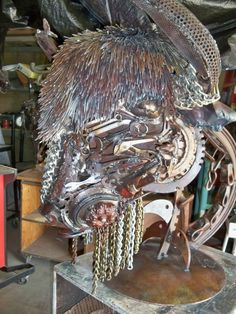 """titled """" Bison gold'  approx 3ft long and 24in tall .. For Sale , post falls Idaho , Mark Olmstead artist"""