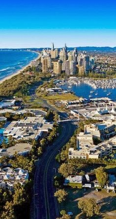 The Gold Coast Is A Coastal City in South-Eastern Queensland on the East Coast of Australia. It is 94 Kilometres South Of The State Capital 'Brisbane'. Australia Boasts Some Of The Best Beaches & Waterfront Real Estate In The World -ShazB Gold Coast Australia, Queensland Australia, South Australia, Brisbane Queensland, Victoria Australia, Melbourne Australia, Places Around The World, Travel Around The World, Around The Worlds