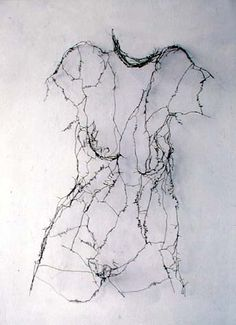 """Naomi Grossman """"Holding My Breath"""".. ethereal wire sculpture ......"""