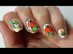 Easy Thanksgiving Pumpkin Nail Art Design!!! - YouTube