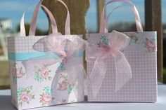 2 Shabby Chic party favor/gift bag by steppnout on Etsy, $4.30