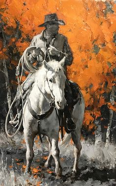 Horseback on the Coldwater Ranch > Jason Rich Cowboy Horse, Cowboy Art, Westerns, Cowboy Pictures, West Art, Horse Drawings, Mountain Man, Equine Art, Horse Art