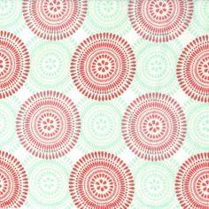 Snuggle Flannel Fabric Fanfare Coral