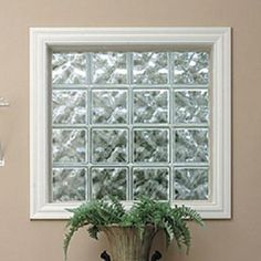 Energy Efficient Vinyl Wrapped Glass Block Windows   Quality Glass Block and Window